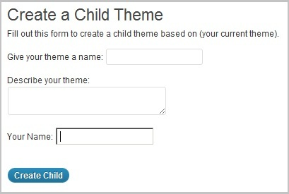 One-Click Child Theme Image